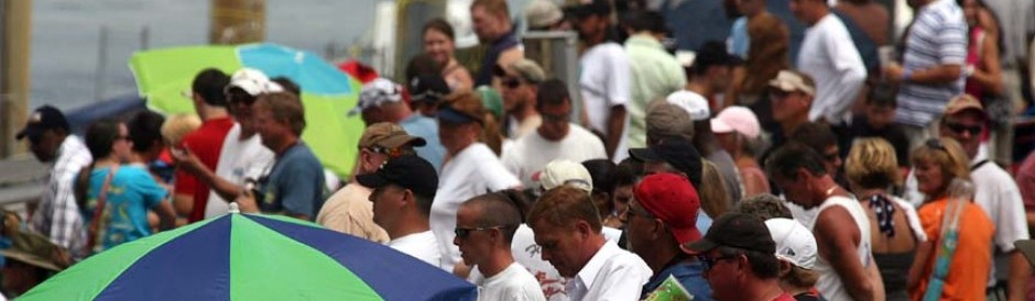 Fans taking in the Augusta Southern Nationals Race